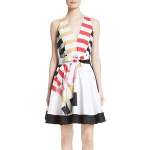 NEW Milly Lola Nautical Print Fit & Flare Dress
